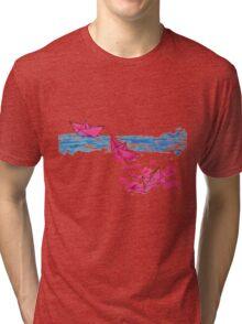Paper Boats Tri-blend T-Shirt