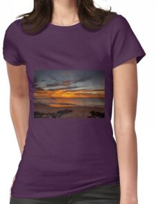 Golden Clouds Womens Fitted T-Shirt