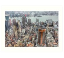 Manhattan New York City cityscape Art Print