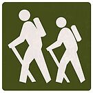 Outdoor Recreational Backbacking Road Sign by surgedesigns