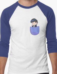 Pocket Karamatsu Men's Baseball ¾ T-Shirt