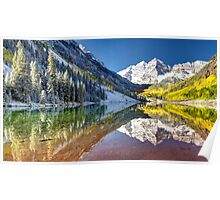 Maroon Bells by Lena Owens/OLena Art photography Poster