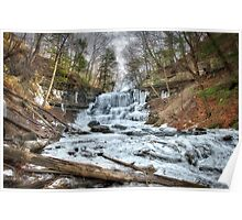 Thawing waterfall Poster