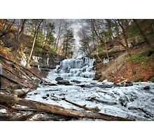 Thawing waterfall Photographic Print