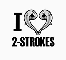 i love 2 stroke black T-Shirt