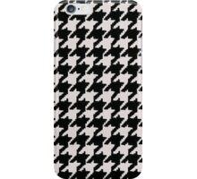 black houndstooth iPhone Case/Skin