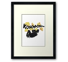 Quotes and quips - konomon Framed Print