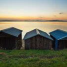Dixons Beach Boatsheds #3 by Chris Cobern