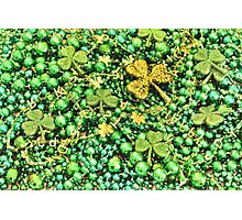 St. Patrick's Day Beads Photographic Print