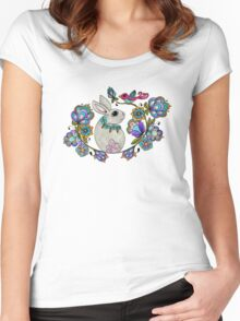 Easter Bunny Women's Fitted Scoop T-Shirt