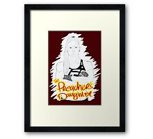 """HOLLY """"The Preacher's Daughter"""" HOLM (maroon) Framed Print"""