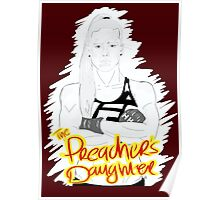 "HOLLY ""The Preacher's Daughter"" HOLM (maroon) Poster"