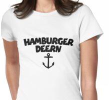 Hamburger Deern Anker (Schwarz) Womens Fitted T-Shirt