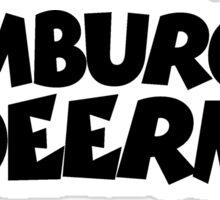 Hamburger Deern (Schwarz) Sticker