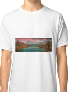 Sunset on the mountains Classic T-Shirt