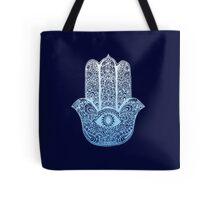 Hamsa Blue Tote Bag