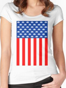 USA : UNITED STATE OF ARCADE Women's Fitted Scoop T-Shirt