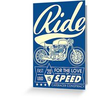 RIDE CAFE RACER Greeting Card