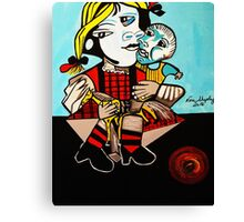 PICASSO PAINTING BY NORA  DAUGHTER AND DOLL Canvas Print