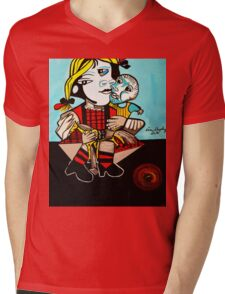 PICASSO PAINTING BY NORA  DAUGHTER AND DOLL Mens V-Neck T-Shirt