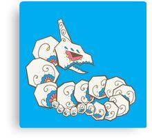 Onix Pokemuerto | Pokemon & Day of The Dead Mashup Canvas Print