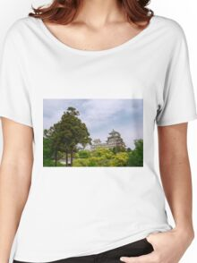 Castle at Hiimeji With Trees, Kansai, Japan Women's Relaxed Fit T-Shirt