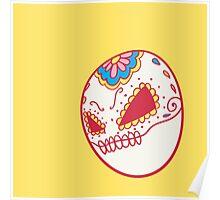 Voltorb Pokemuerto | Pokemon & Day of The Dead Mashup Poster