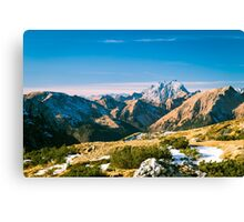winter day in the italian alps Canvas Print
