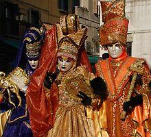 Carnival Goers in Costume, Venice by jojobob