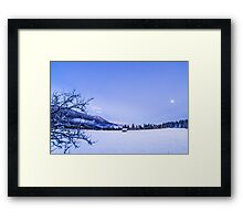 sunset after the first snowfall Framed Print