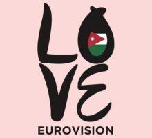 LOVE Eurovision [Jordan] Kids Tee
