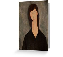 Amedeo Modigliani - Buste de femme Busto Woman Portrait Fashion  Greeting Card