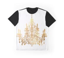 Crystal Chandelier in Faux Gold Graphic T-Shirt