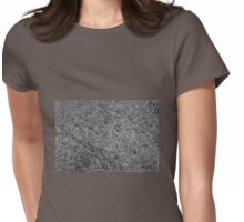 Chrome Ripples Womens Fitted T-Shirt