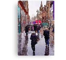 Rainy Day in Glasgow Canvas Print