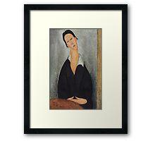 Amedeo Modigliani - Portrait of a Polish Woman 1919 Woman Portrait  Fashion  Framed Print