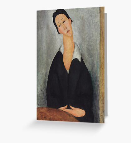 Amedeo Modigliani - Portrait of a Polish Woman 1919 Woman Portrait  Fashion  Greeting Card