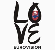 LOVE Eurovision [Slovakia] Kids Tee