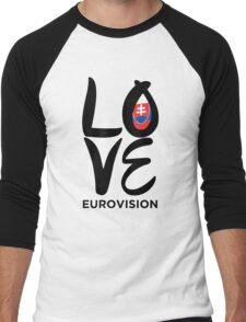 LOVE Eurovision [Slovakia] Men's Baseball ¾ T-Shirt