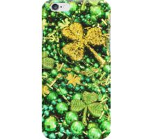 St. Patrick's Day Beads iPhone Case/Skin