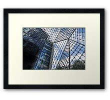 Indoors Outdoors Sky Geometry - Fabulous Modern Architecture in London, UK Framed Print