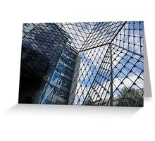 Indoors Outdoors Sky Geometry - Fabulous Modern Architecture in London, UK Greeting Card