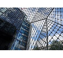 Indoors Outdoors Sky Geometry - Fabulous Modern Architecture in London, UK Photographic Print