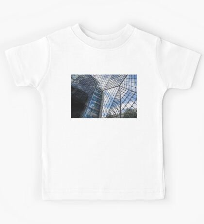Indoors Outdoors Sky Geometry - Fabulous Modern Architecture in London, UK Kids Tee
