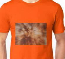 Orange Radial Zoom Unisex T-Shirt