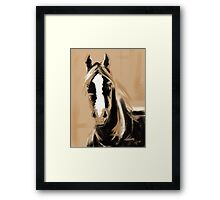 Horse Paint White Framed Print