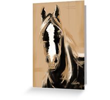 Horse Paint White Greeting Card