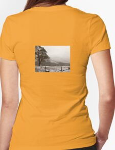Snow Scene on Glencoe, Scotland #1 Womens Fitted T-Shirt