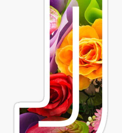 The Letter J - Flowers Sticker