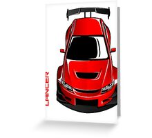 Lancer EVO Greeting Card